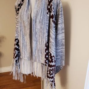 SWS Aztec Fringed Cardigan Small 34/35 bust